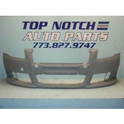 05 06 07 08 Audi A4 S-Line Front Bumper Cover w/o washer openings